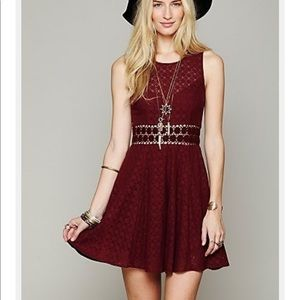 🎉HP🎉 FREE PEOPLE 'Daisy' Lace Fit & Flare Dress